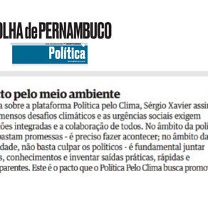 Folha de Pernambuco: Pacto pelo meio ambiente