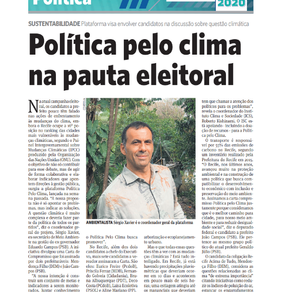 Política pelo clima na pauta eleitoral