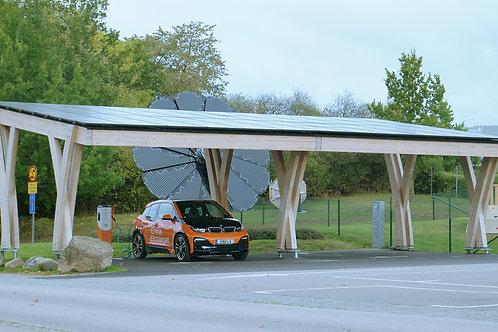 solar carport - electric vehicle charging station