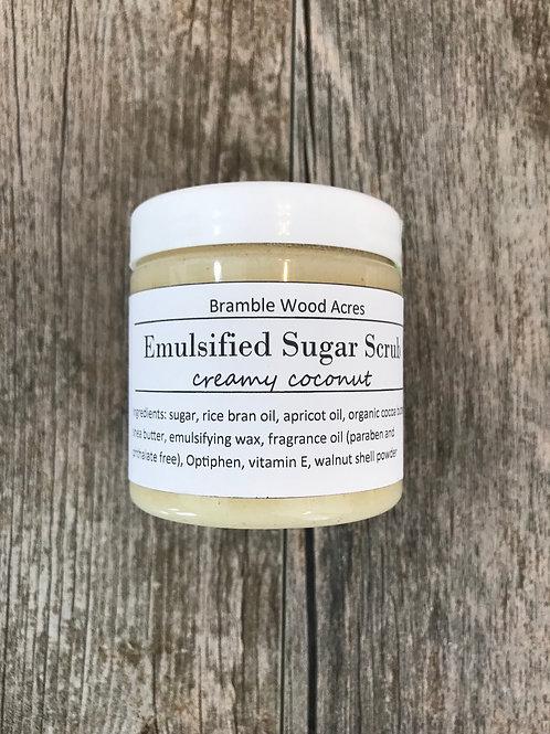 Creamy Coconut Emulsified Sugar Scrub