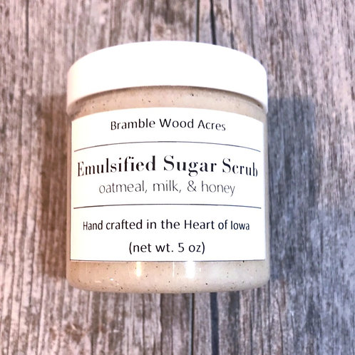 Oatmeal, Milk, & Honey Emulsified Sugar Scrub