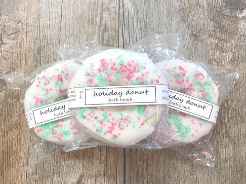 Holiday Donut Bath Bomb
