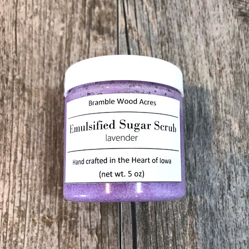 Lavender Essential Oil Emulsified Sugar Scrub