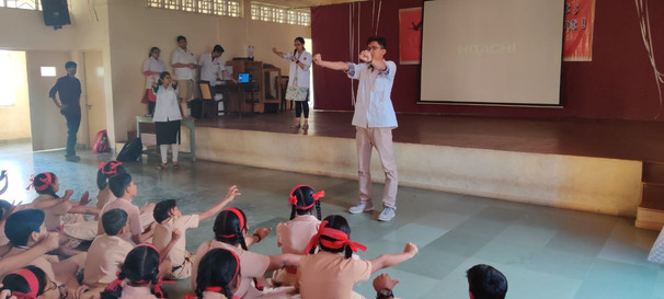 Workshop for students regarding Screen Addiction at St. Anthony's Convent High School, Vasai