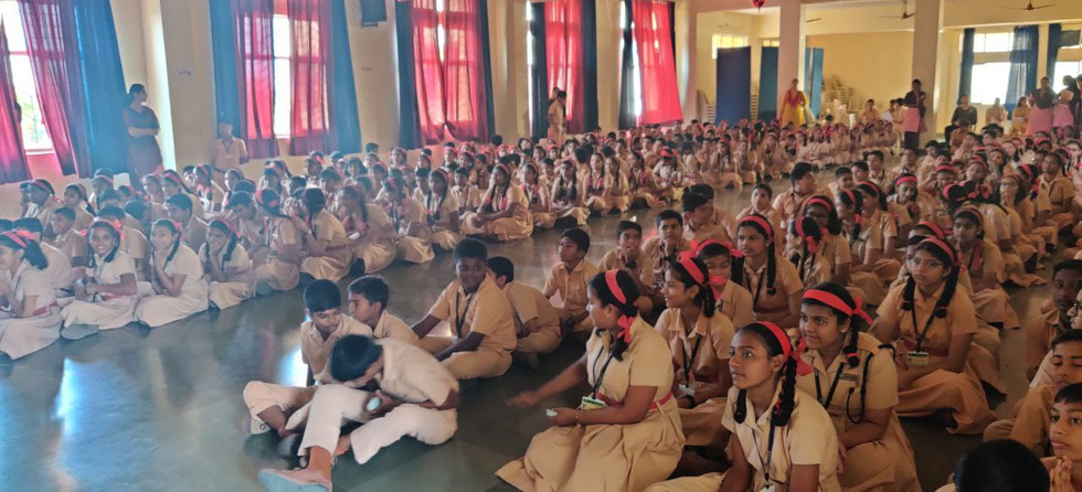 Seminar to guide students regarding Screen Addiction at St. Anthony's Convent High School, Vasai