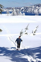 Snowshoeing at Crater Lke