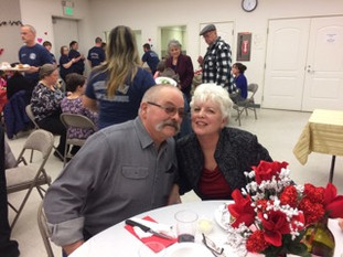 Judy and Pete Pate at the Valentine's Dinner