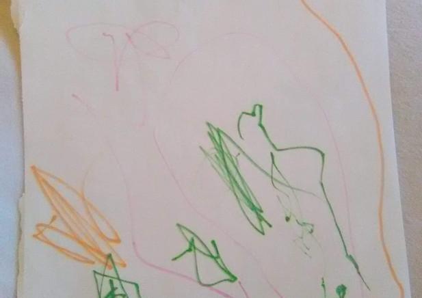 """Green, Purple+Orange Design"""