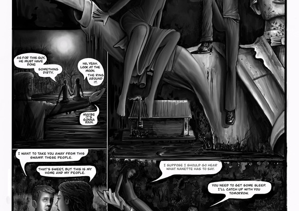 Excerpt from the graphic novel Black Bayou Red Mojave