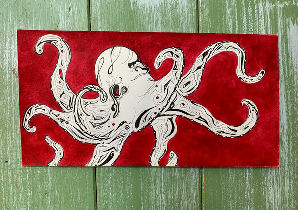 Octopus on Red