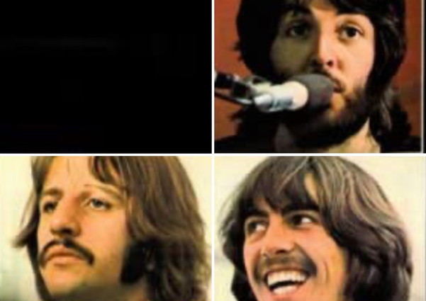 """Teddy Qinn  This is a 'collage' using three of four photos by Ethan Russell """"the only rock photographer to have shot album covers for The Beatles (Let it Be), The Rolling Stones (Get Yer Ya-Yas Out) and The Who (Who's Next.)"""