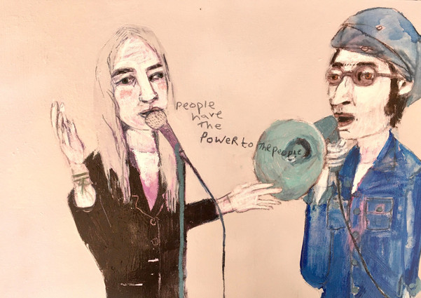 Patti Smith John Lennon 'the people have the power to the people'