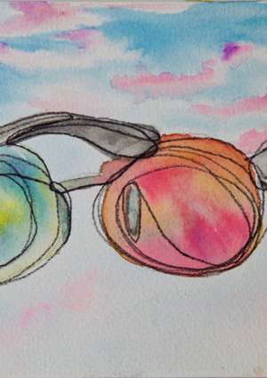 Beatnik Colored Glasses