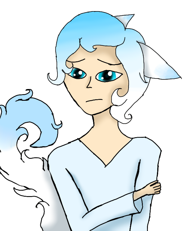 Sad boy blue