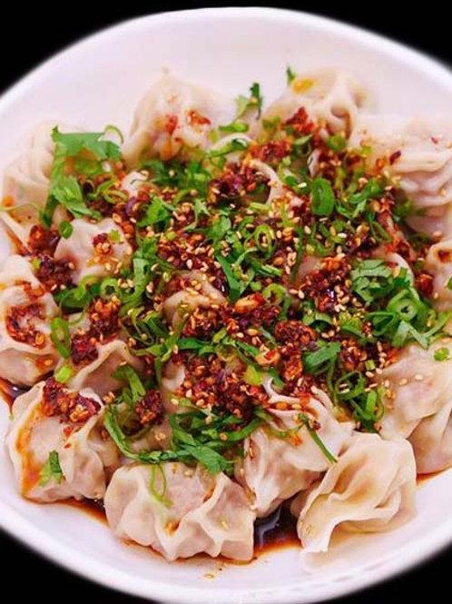 剝皮辣椒味增豬水餃(微辣) (NT$10/顆, 每包30顆)