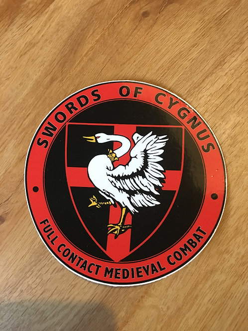 Cygnus Medieval Car Sticker