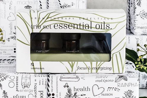 Trio Essential Oils - Focus & Energizing