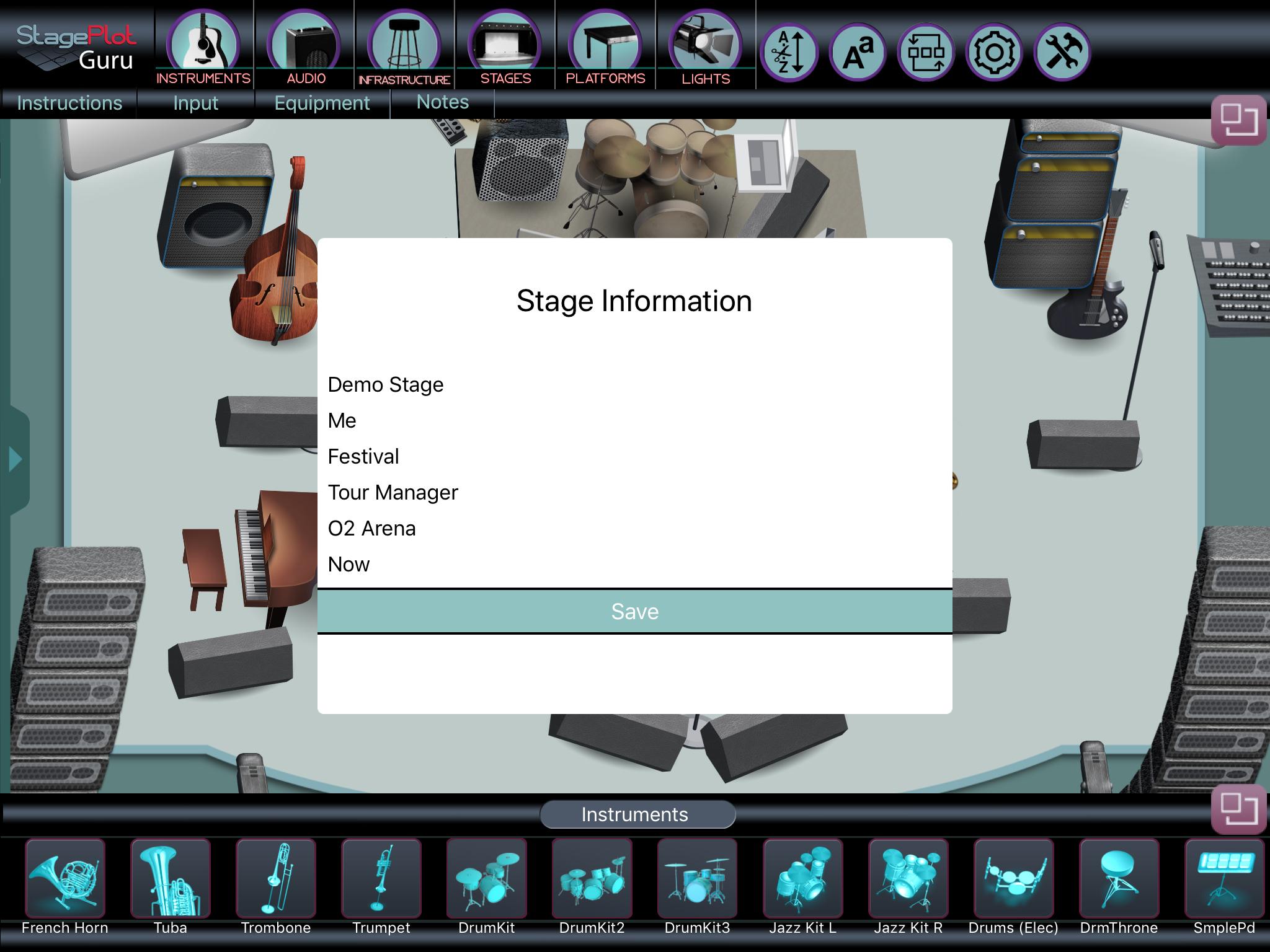 Enter Stage Information