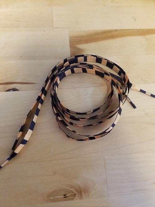 Tiger Print Shoelaces