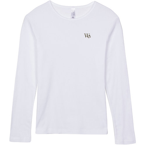 """W"" Crewneck Long Sleeve Tee"