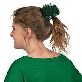 Green Pom Pom Hair Ties