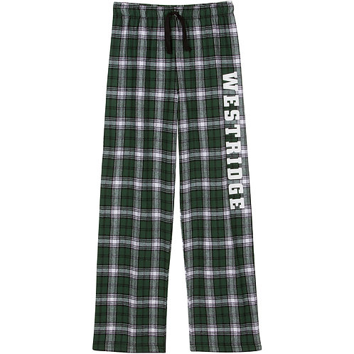 Westridge Green & White Plaid Flannel Pajama Pant