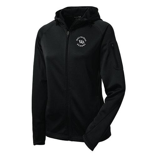 "Ladies Circular ""W"" Tech Fleece Full-Zip Hooded Jacket"