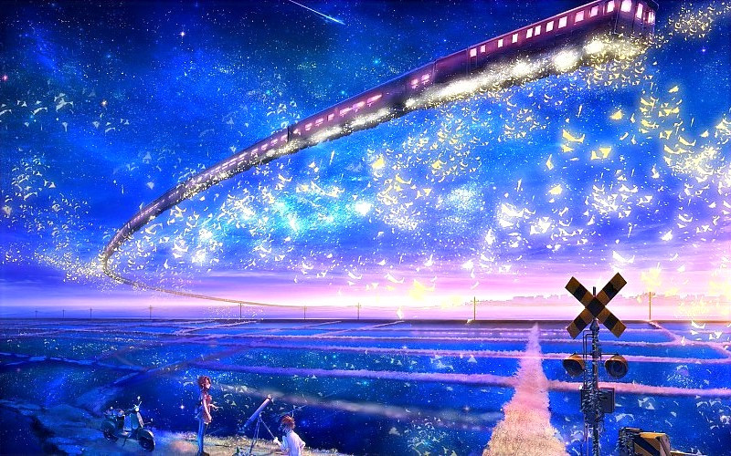 the-train-in-the-sky-anime-galaxy-express