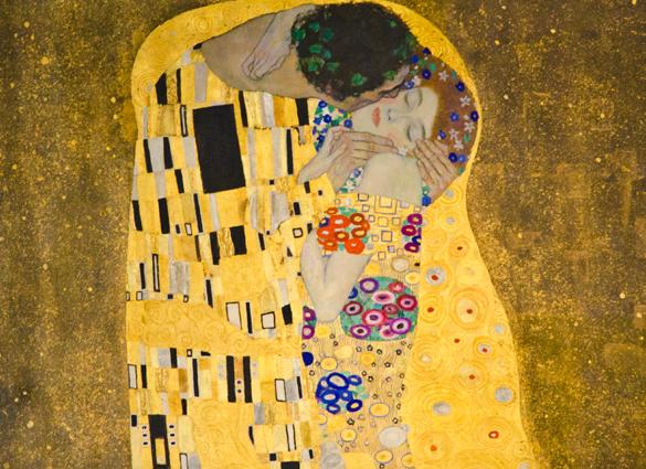 Gustav Klimt, Öpücük.