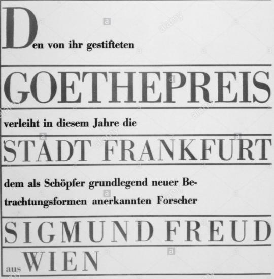 Goethe Ödülü, 1930