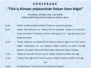 Konferans: Türk iş dünyası yelpazesinde İtalyan lisanı bilgisi
