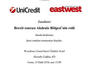 Konferans: Brexit sonrası Akdeniz Bölgesi'nin rolü