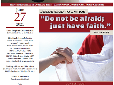 Bulletin: June 27, 2021