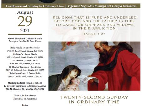 Bulletin: August 29, 2021
