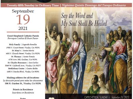 Bulletin: September 19, 2021