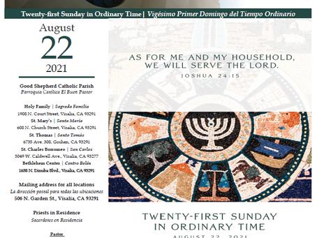 Bulletin: August 22, 2021