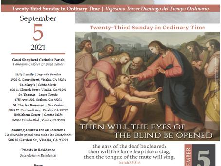 Bulletin: September 5, 2021