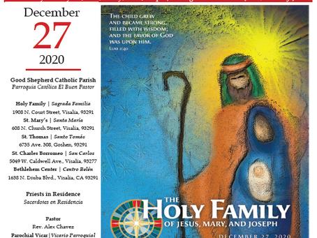 Bulletin: December 27, 2020