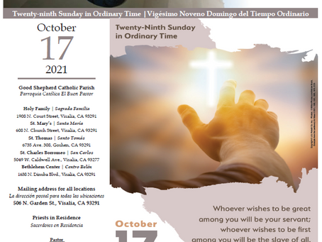 Bulletin: October 17, 2021