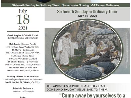 Bulletin: July 18, 2021