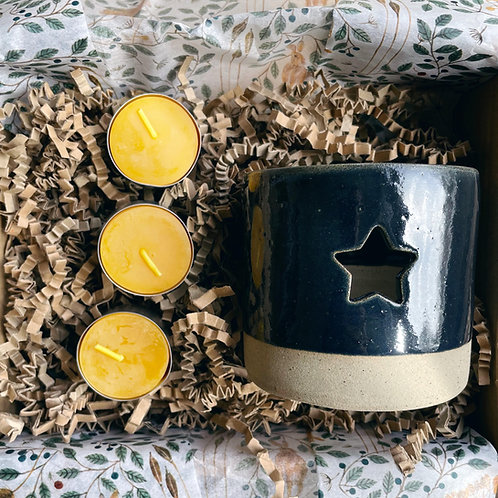 Navy Tealight Gift Box