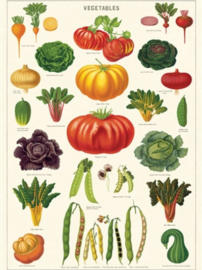 Large Vegetable Gift Wrap