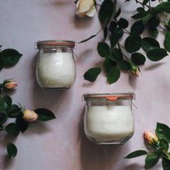 Tea Rose and Darjeeling weck jar candles 370ml