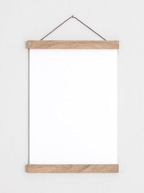 Oak Poster Hanger 20 inch