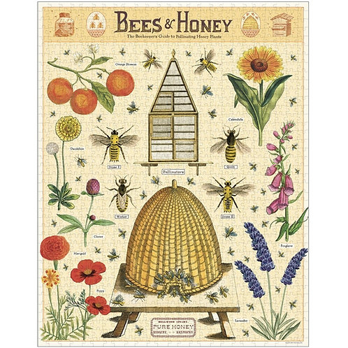 Vintage Bees and Honey Jigsaw