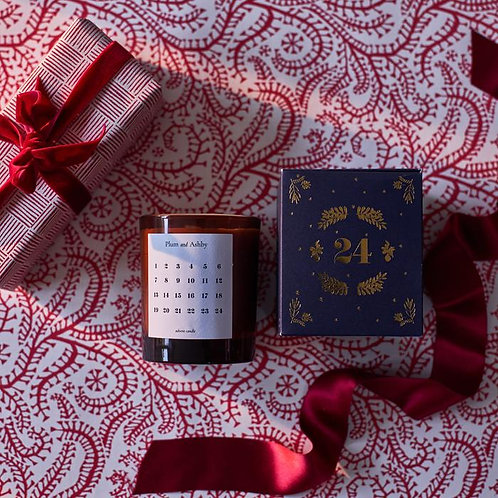 Plum and Ashby Advent Candle