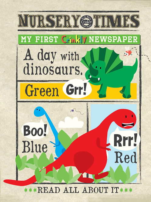Nursery Times Dino Newspaper