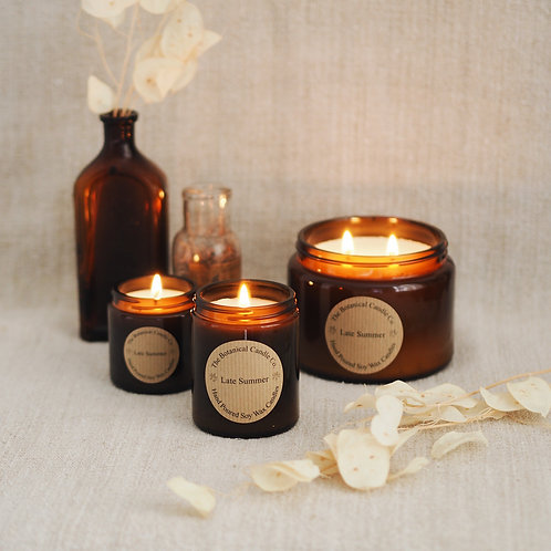 Late Summer glass jar Candle 120ml