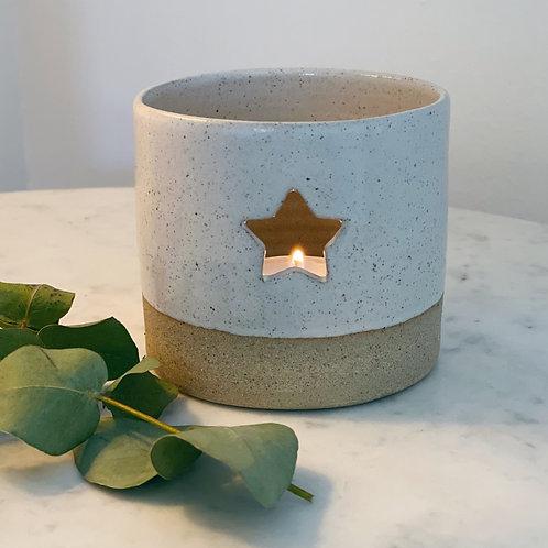 White Star Tea Light Holder