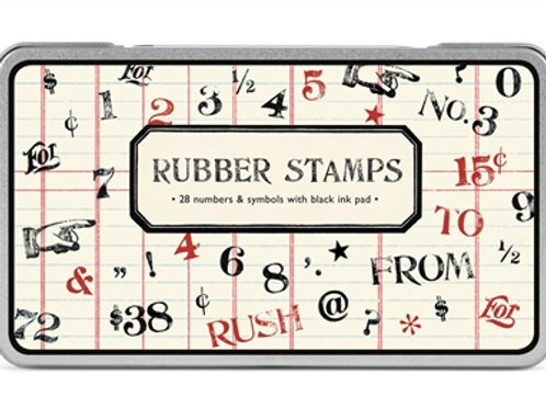 Number and Symbol rubber stamps